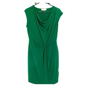 Super flattering slinky dress.